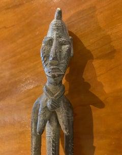 Mali woman bronze sculpture