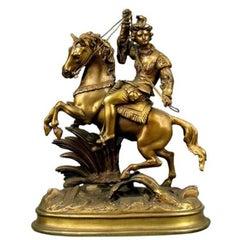 Man on Horseback Sculpture