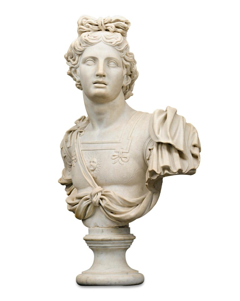 Marble Bust of Apollo - Sculpture by Unknown