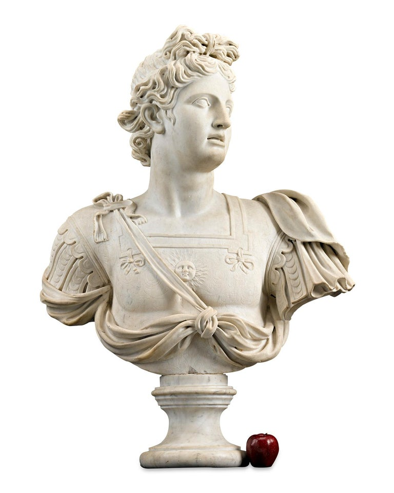 Marble Bust of Apollo For Sale 1