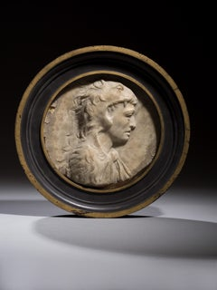 Marble Circular Relief depicting Alexander the Great as Hercules 16th Century