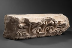 "Marble Relief achantus leaves ""pulvino"" Roman Empire 2nd Century AD"