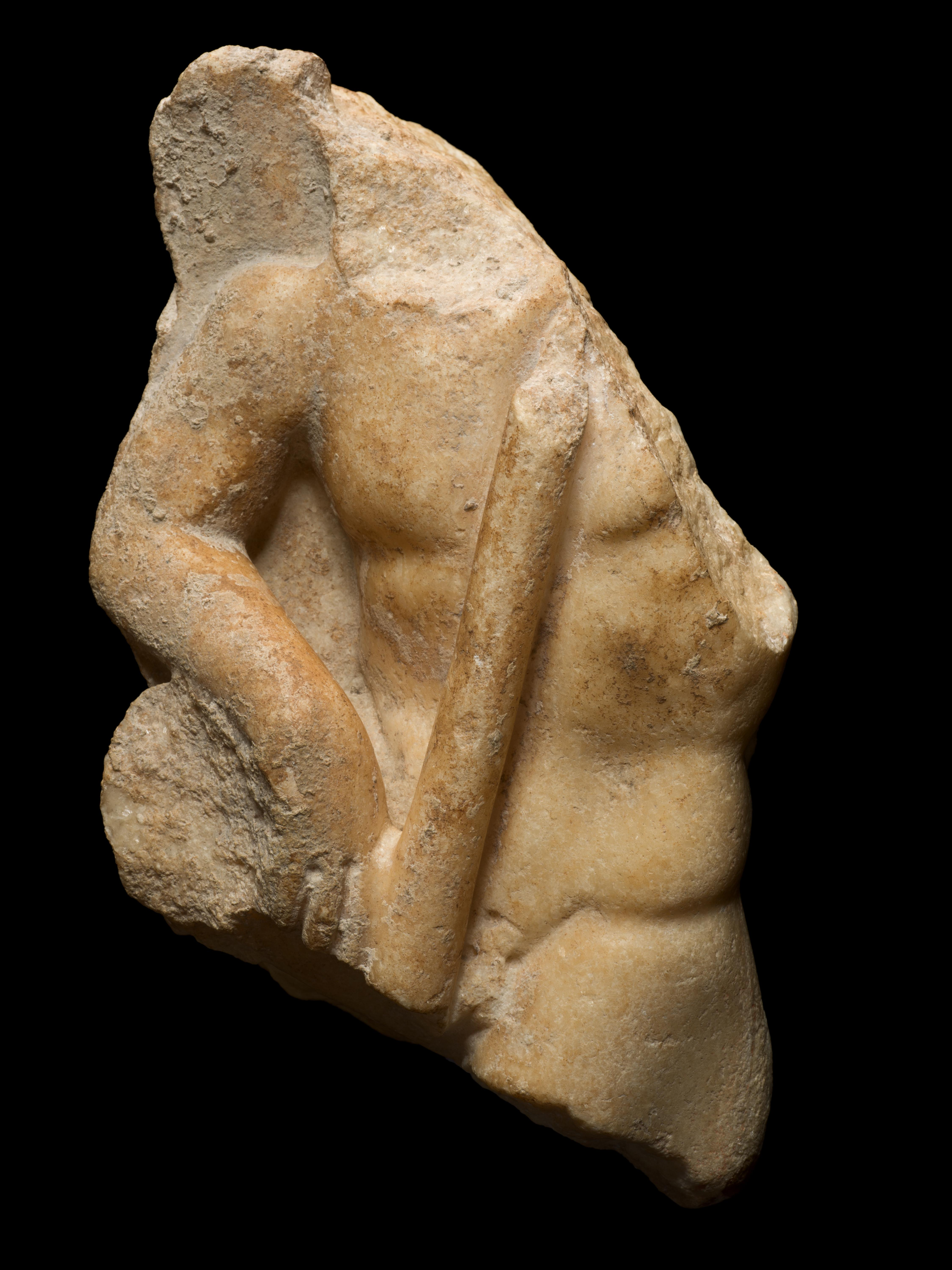 Marble Relief of a Male Torso Roman Empire 2nd/3rd Century AD