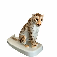 Meissen - German Porcelain Leopard sculpture