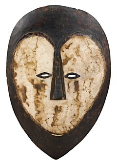 """Messenger Mask Lega - Zaire,"" Wood & Clay created in Africa circa 1925"