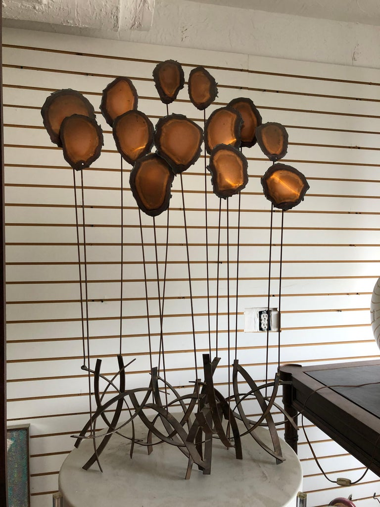 Mid Century Brutalist Sculpture Flowers or Balloons For Sale 2