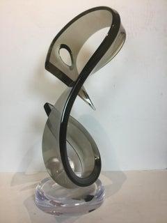 Modern smoky Lucite Globe drop decorative centerpiece