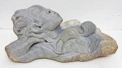 Modernist Carved Sandstone Sculpture Mythical Figure