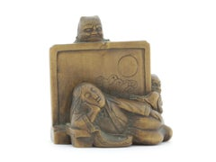 Netsuke, Wood, Accessory, Fashion, 19th Century, Antique, Woodcraft, Artisan