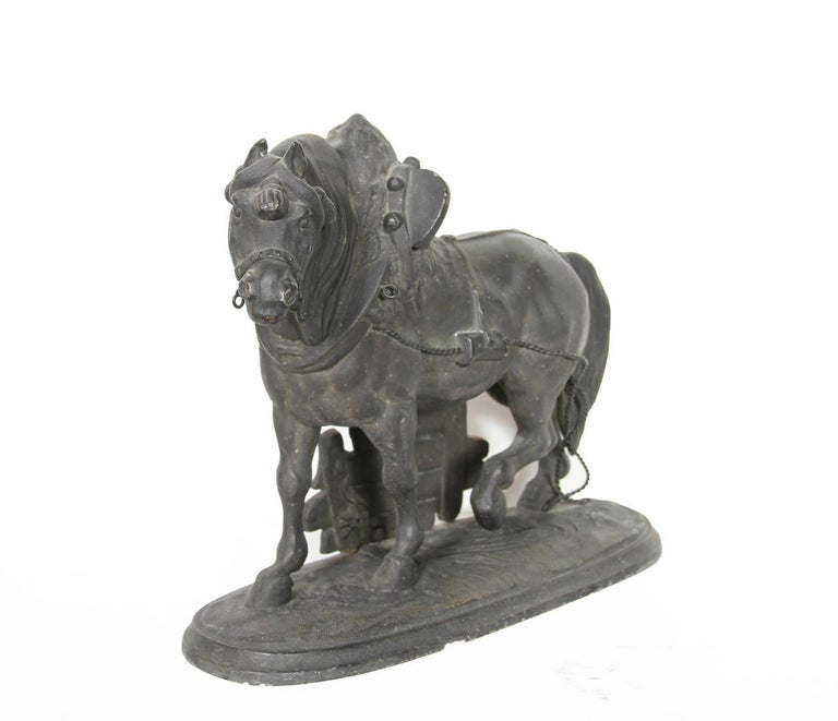 Norman Horse - Latonia and No. 1012 Clock Top - Sculpture by Unknown