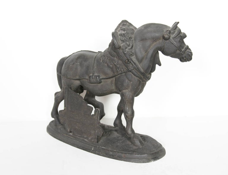 Norman Horse - Latonia and No. 1012 Clock Top - Romantic Sculpture by Unknown