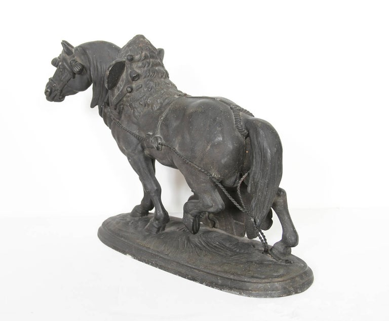 Norman Horse - Latonia and No. 1012 Clock Top - Gray Figurative Sculpture by Unknown