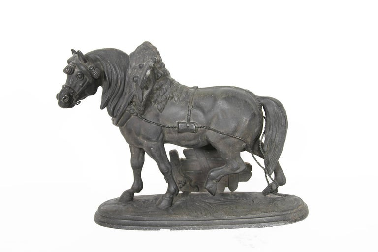 Unknown Figurative Sculpture - Norman Horse - Latonia and No. 1012 Clock Top