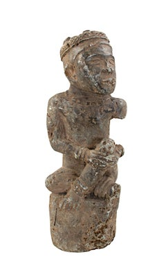 """N'Tadi King - Zaire,"" Carved Cothe Stone Sculpture created between 1800-1850"