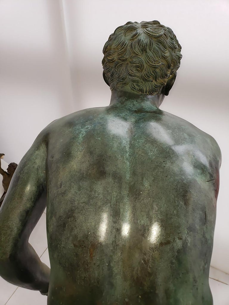 Nude Male Runner Classical Patinated  Bronze After the Antique For Sale 13