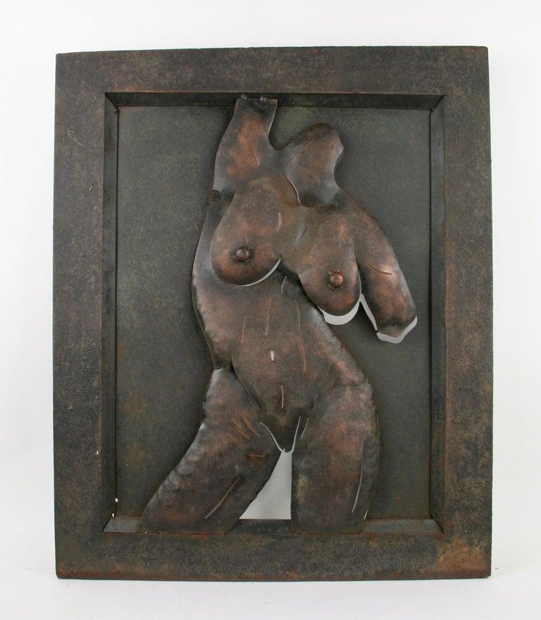 Nude Metal Wall Sculpture 1