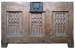 Oak chest panel - end of the 15th century