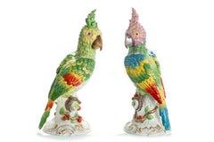 Pair Of Parrots, Meissen