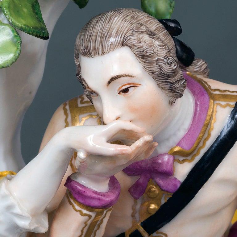 Pastoral Group/Handkuss (The Hand-kiss) Meissen, Circa 1731 - Sculpture by Unknown