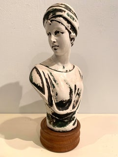 Patinated Plaster European Art Nouveau Bust