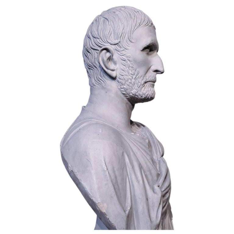 Plaster Bust of the Roman Emperor, Capitoline Brutus (Lucius Junius Brutus) - Sculpture by Unknown