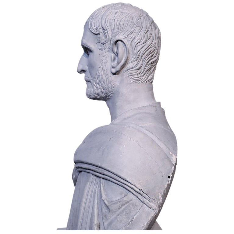 Plaster Bust of the Roman Emperor, Capitoline Brutus (Lucius Junius Brutus) - Old Masters Sculpture by Unknown