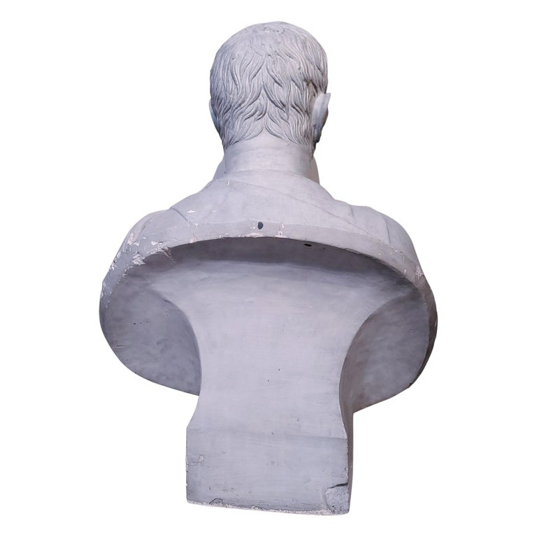 Plaster Bust of the Roman Emperor, Capitoline Brutus (Lucius Junius Brutus) - Gray Figurative Sculpture by Unknown
