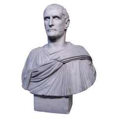 Plaster Bust of a Roman Emperor