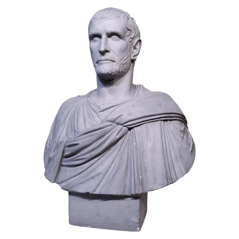 Unknown Figurative Sculpture - Plaster Bust of the Roman Emperor, Capitoline Brutus (Lucius Junius Brutus)