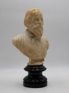 Portrait of Giuseppe Garibaldi - Original Marble Sculpture - Late 19th Century