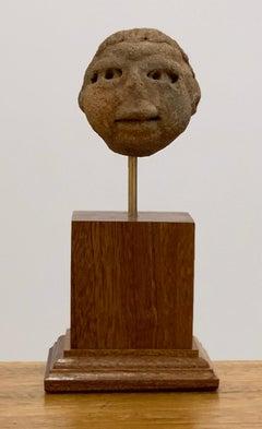 Pre Columbian Mesoamerica clay head, Veracruz Culture Approximatly 600 - 900 BCE