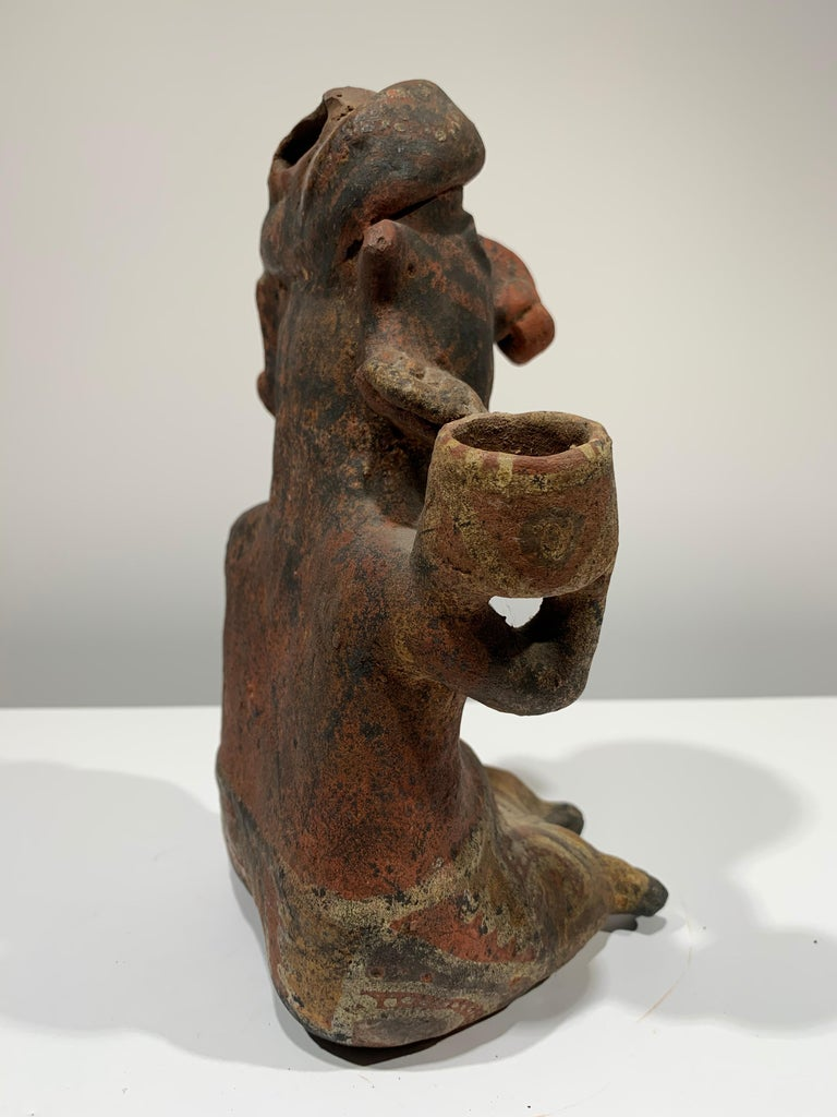 Pre-Columbian, West Mexico, Nayarit woman figural sculpture  For Sale 1