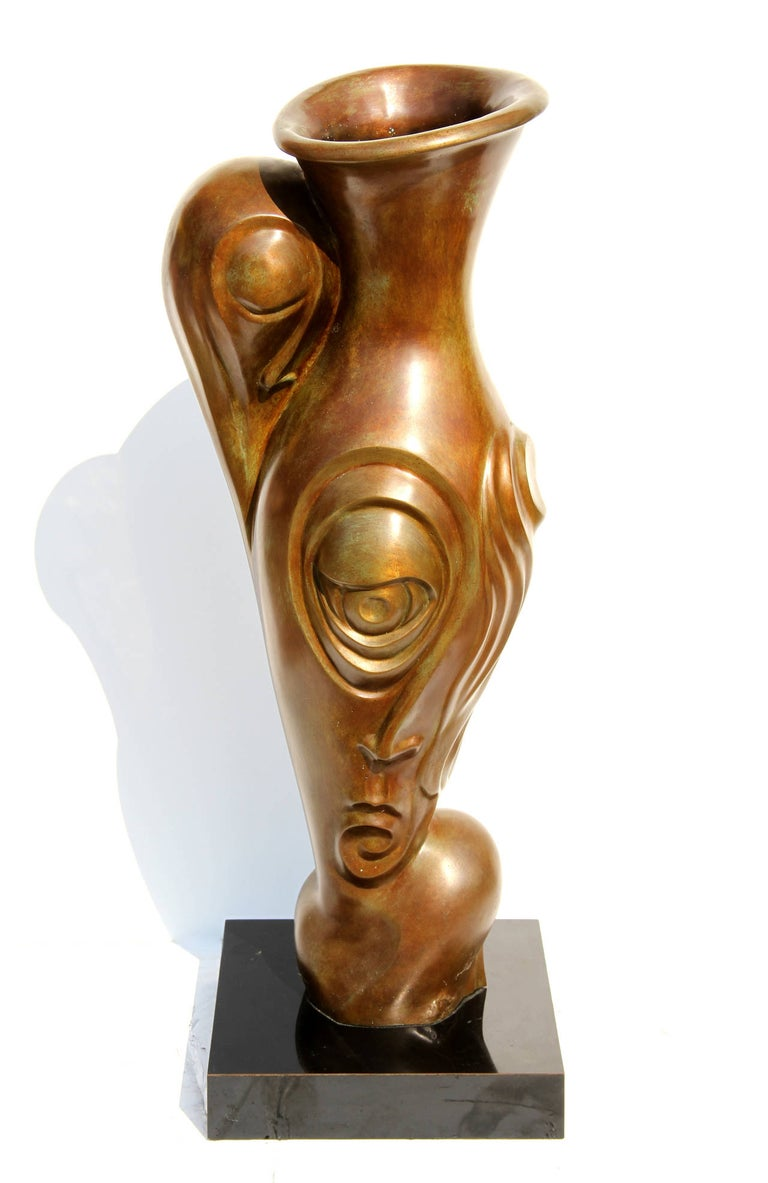 Unknown Figurative Sculpture - Profile Pitcher
