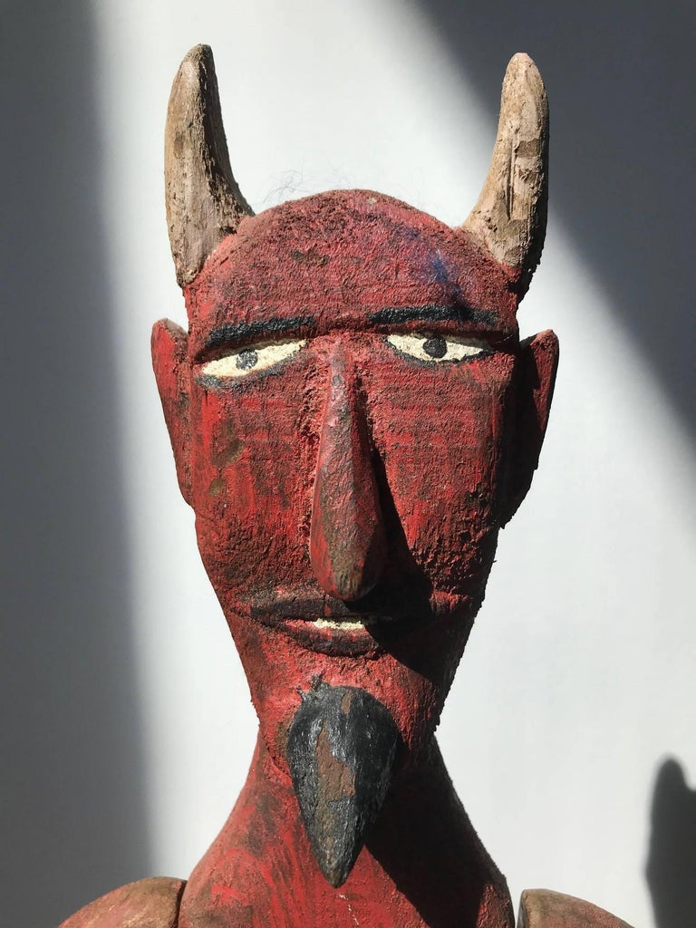 Red Devil - Sculpture by Unknown