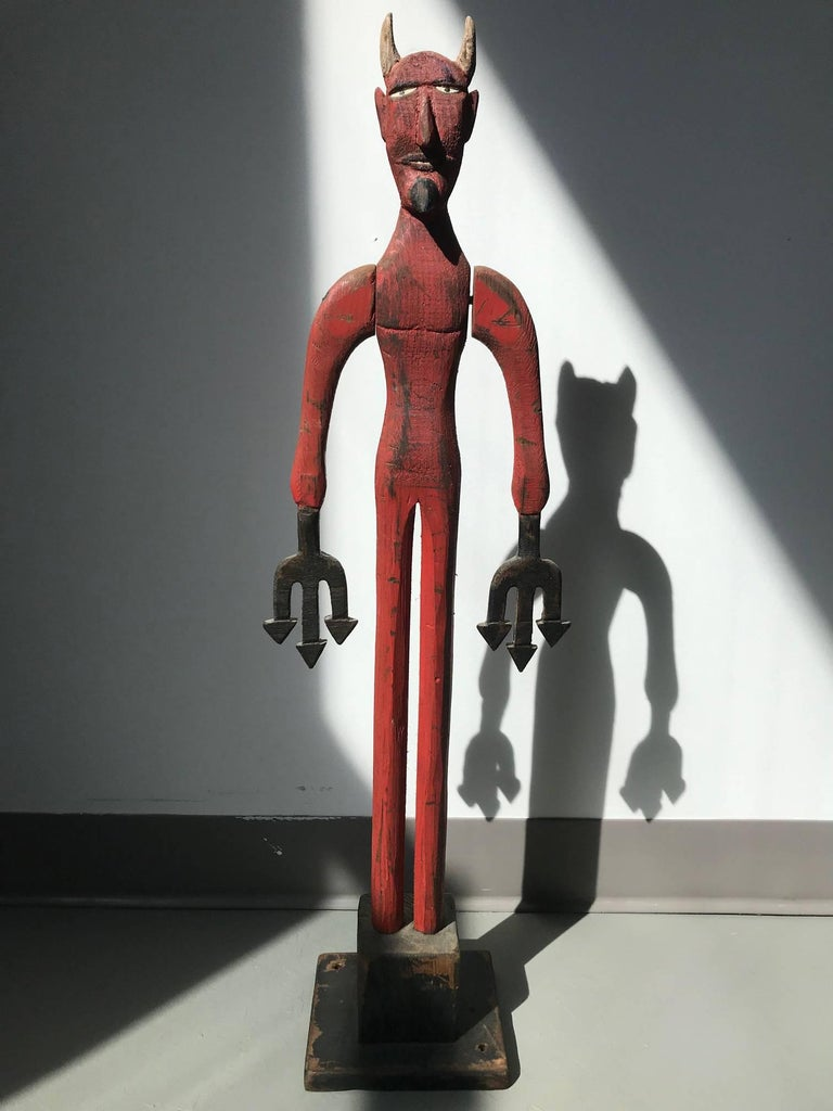 Unknown Figurative Sculpture - Red Devil