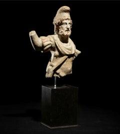 Roman marble figure of Jupiter Dolichenus