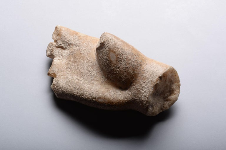 Roman Marble Fragment of a Hand - Gray Figurative Sculpture by Unknown