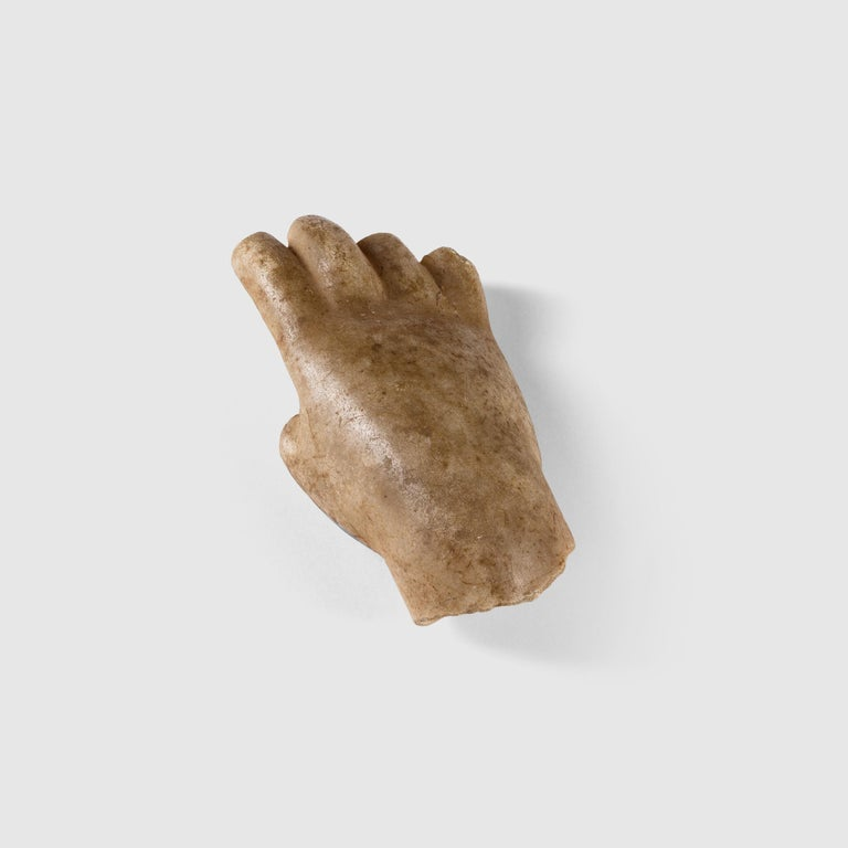 Roman Marble Fragment of a Hand For Sale 3