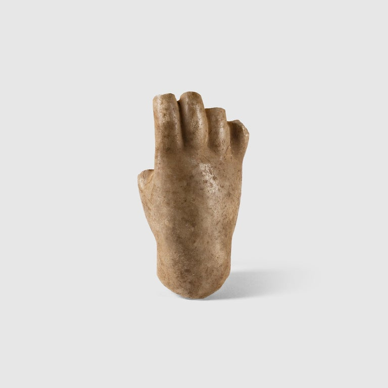 Unknown Figurative Sculpture - Roman Marble Fragment of a Hand