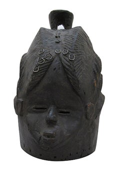 """Secret Society Mask-Sierra Leone W. Africa,"" Wood created circa 1930"