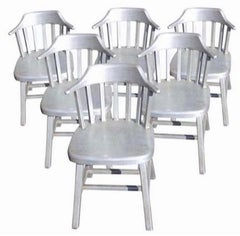 Six Vintage Stainless Steel Sculptural Dining Chairs Sculpture Mid-Century Set 6