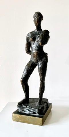 """""""Standing Nude"""", bronze sculpture"""