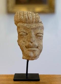 Stone Mask Sculpture - Pre Columbian, Costa Rica