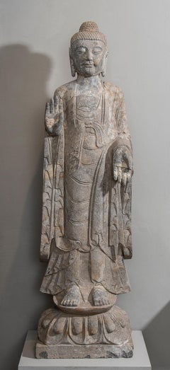 Stone Sculpture of Buddha In The style Of the Tang And Wei Dynasties