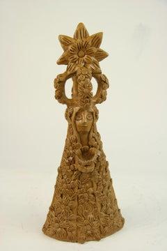 Terracotta Folk Art Abstract Figural Sculpture