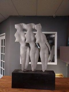THREE FIGURES in Aluminium Sculpture