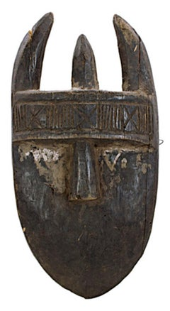 """Toma Mask, Guinea,"" Carved Wood from Africa created circa 1900"