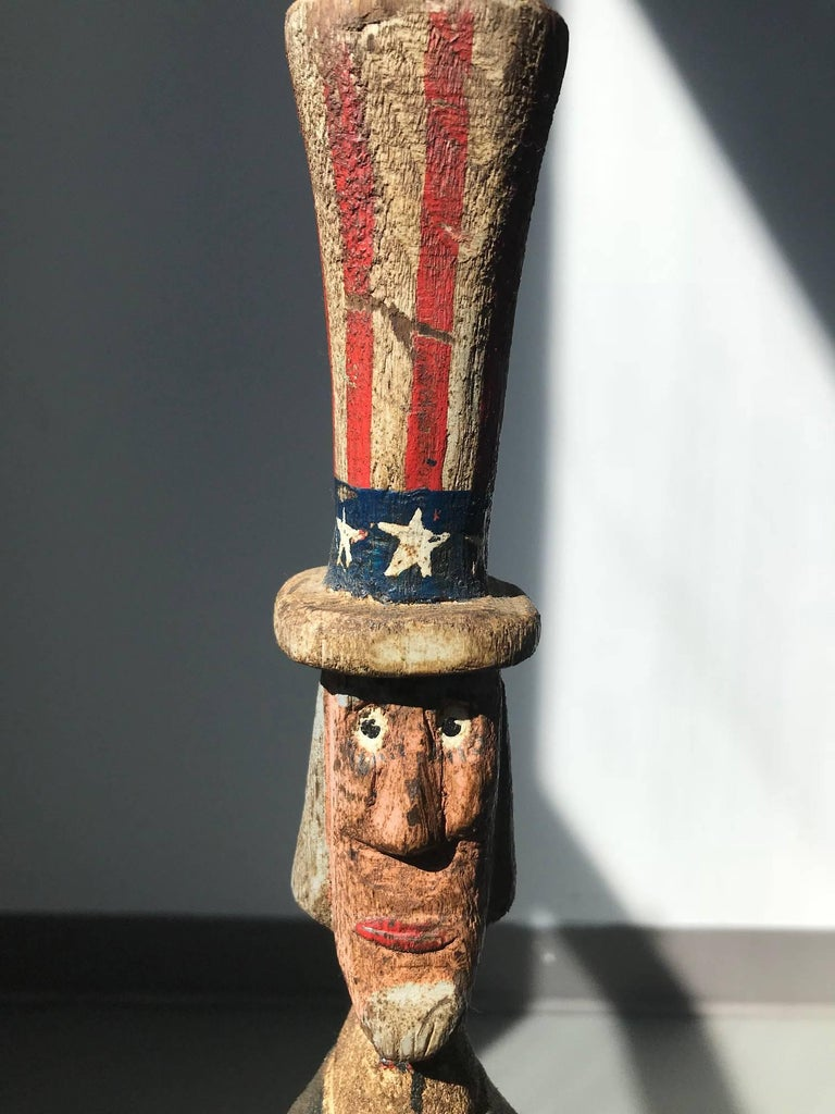 Uncle Sam - Sculpture by Unknown