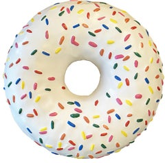 Donut - Unique 3 foot Large Frosted  Donut with Sprinkles sculpture/sign