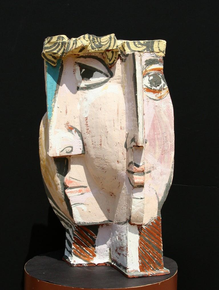 Unique Ceramic Cubist Bust For Sale 1